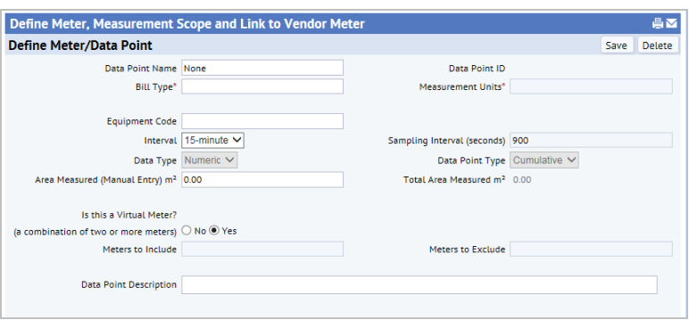 Defining Meters and Linking Them to Vendor Accounts