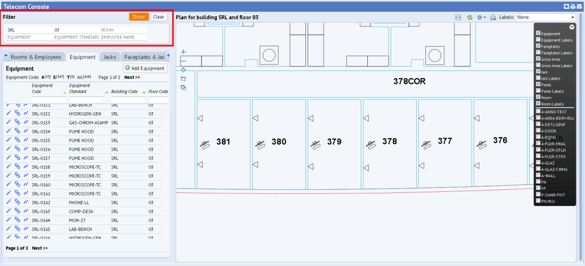 Working With Floor Plans In The Telecom Console